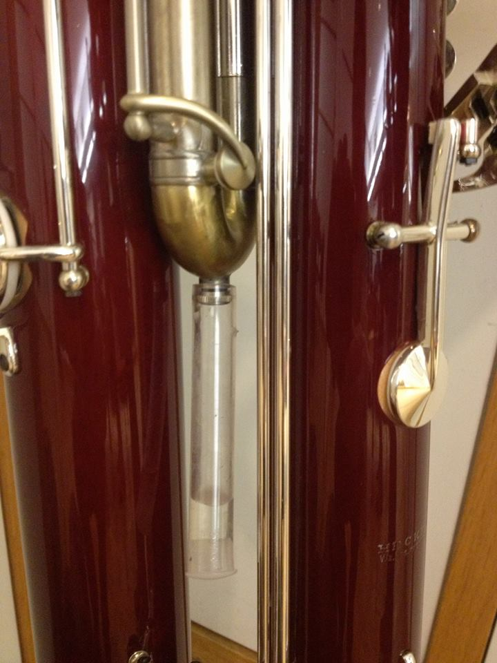 automatic water key for contra bassoon
