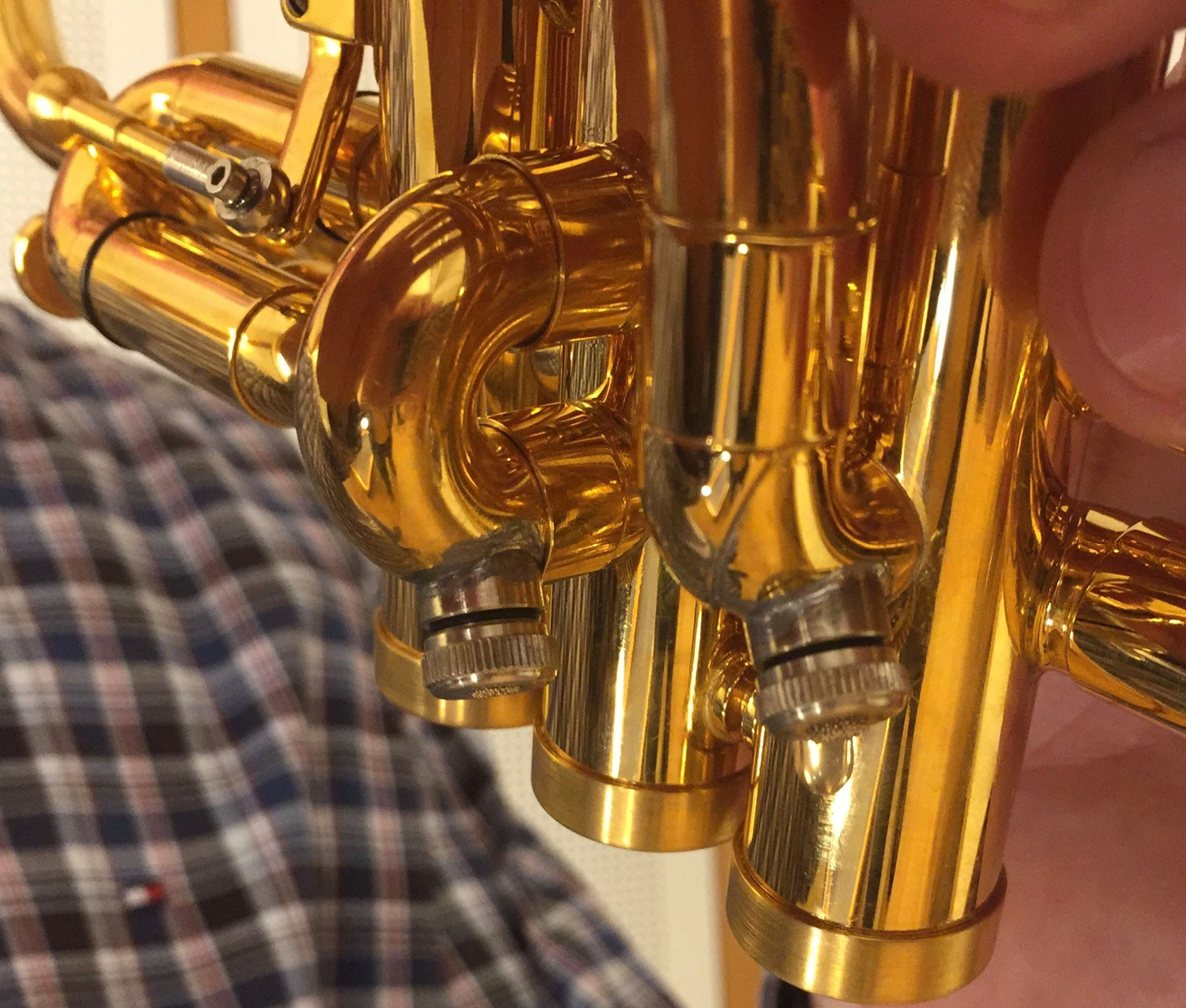 automatic water key for brass instruments