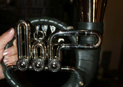 Fürst Pless Horn with a JoyKey spit valve installed on the lead pipe